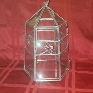 Other - Glass & Metal Trinket Box